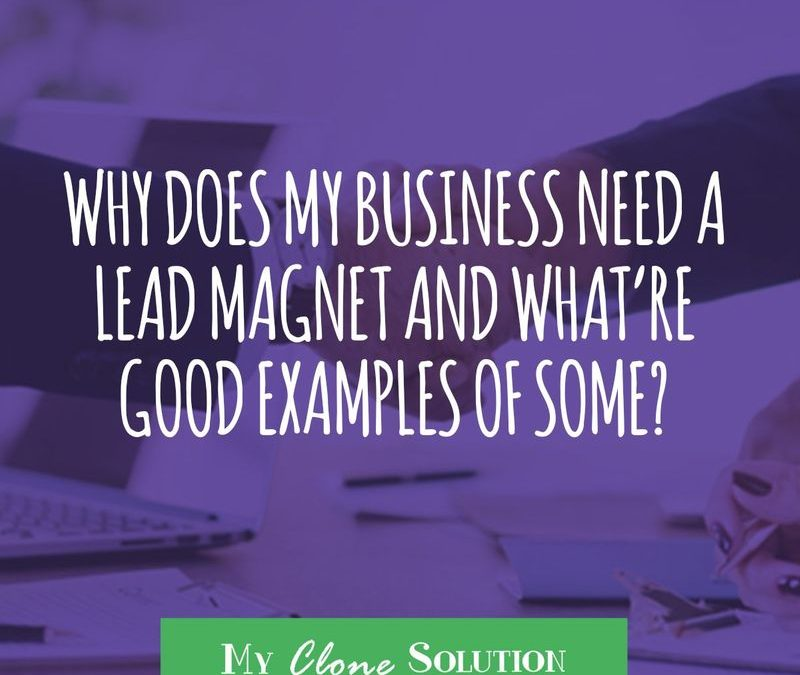Why Does My Business Need Lead Magnets and What're Good Examples of Some?
