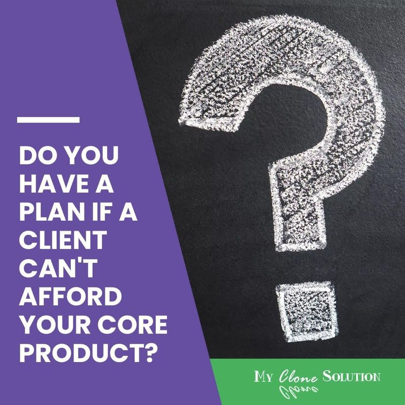 Do-you-have-a-plan-if-a-client-cannot-afford-your-core-product