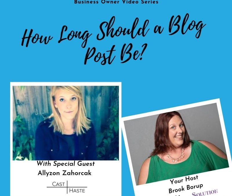 Blog Post Lengths: How Long Should a Blog Post Be?