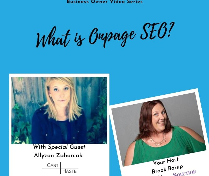 What is Onpage SEO?