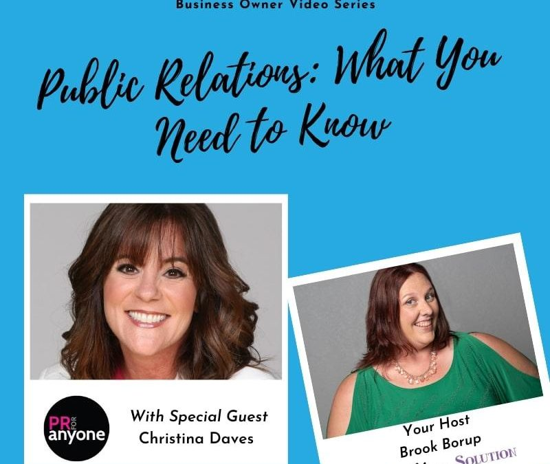 Public Relations: What You Need to Know